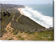 Montara State Beach Pacific Coast Highway California 5d22632 Acrylic Print by Wingsdomain Art and Photography