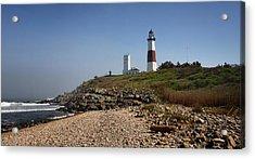 Montauk Lighthouse Acrylic Print by Alida Thorpe