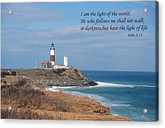 Montauk Lighthouse/camp Hero/inspirational Acrylic Print