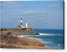 Acrylic Print featuring the photograph Montauk Lighthouse/camp Hero by Karen Silvestri