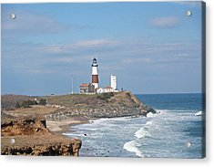 Montauk Lighthouse View From Camp Hero Acrylic Print