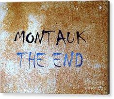 Montauk-the End Acrylic Print by Ed Weidman