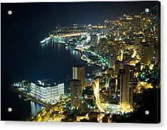 Monte Carlo By Night  Acrylic Print by Ioan Panaite