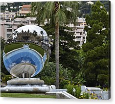 Acrylic Print featuring the photograph Monte Carlo Casino In Reflection by Allen Sheffield
