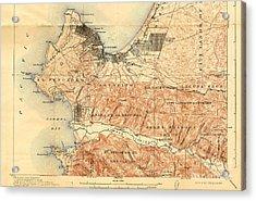 Monterey And Carmel Valley  Monterey Peninsula California  1912 Acrylic Print