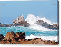 Monterey Bay Waves Acrylic Print by Artist and Photographer Laura Wrede