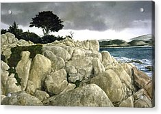 Monterey Coast Acrylic Print by Tom Wooldridge