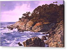 Acrylic Print featuring the painting Monterey Glory by Tom Wooldridge