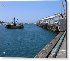 Monterey Municipal Wharf Acrylic Print by James B Toy