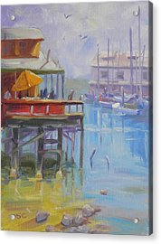Monterey Wharf Acrylic Print