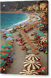 Monterosso Beach Acrylic Print by Inge Johnsson