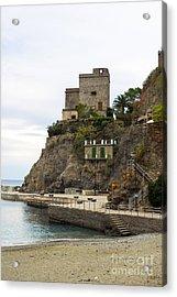 Monterosso Harbor Pier Acrylic Print