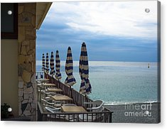 Monterosso Outdoor Cafe Acrylic Print