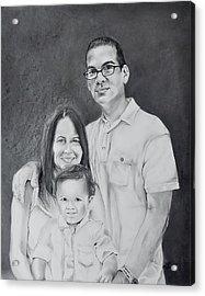 Montes Family Acrylic Print by Raymond Perez