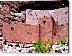 Montezuma Castle  Acrylic Print by Bob and Nadine Johnston
