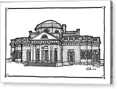Acrylic Print featuring the drawing Monticello by Calvin Durham
