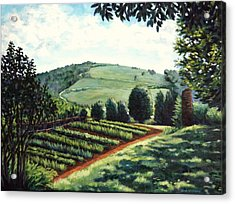 Acrylic Print featuring the painting Monticello Vegetable Garden by Penny Birch-Williams