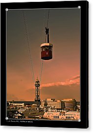 Acrylic Print featuring the photograph Montjuic Cable Car by Pedro L Gili