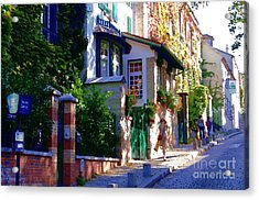 Acrylic Print featuring the photograph Walk In Montmartre  by Jacqueline M Lewis