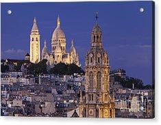 Montmartre Twilight Acrylic Print by Brian Jannsen