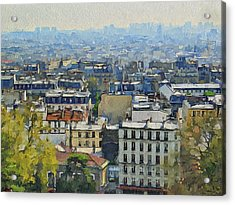 Montmartre View Acrylic Print by Yury Malkov