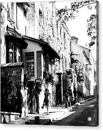 Montmartre Walk Vert Bw Acrylic Print by Jacqueline M Lewis