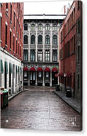 Montreal Alley Acrylic Print by John Rizzuto