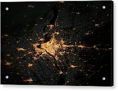 Montreal At Night From Space Acrylic Print