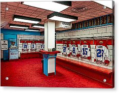 Montreal Canadians Hall Of Fame Locker Room Acrylic Print by Boris Mordukhayev