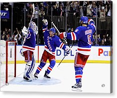 Montreal Canadiens V New York Rangers - Acrylic Print by Mike Stobe