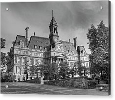 Montreal City Hall  Montreal, Quebec Acrylic Print by David Chapman