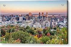 Montreal City In Autumn Acrylic Print