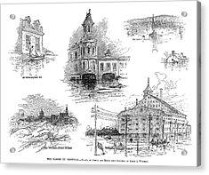 Montreal Flood, 1886 Acrylic Print by Granger