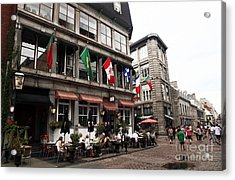 Montreal Lunch Acrylic Print by John Rizzuto