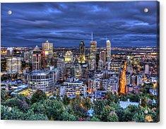 Montreal Skyline At Dusk Acrylic Print by Shawn Everhart