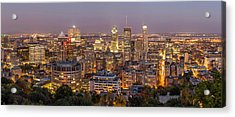 Montreal Skyline At Night Acrylic Print by Pierre Leclerc Photography