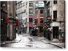 Montreal Street Scene Acrylic Print by John Rizzuto