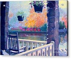 Montreat Porch Acrylic Print by Gretchen Allen