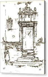 Montresor Chapel Doorway 1840 Acrylic Print by Padre Art