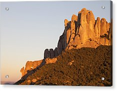 Montserrat At Sunset Acrylic Print by Javier Fores