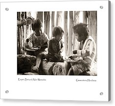 Acrylic Print featuring the photograph Monueles Children by Tina Manley