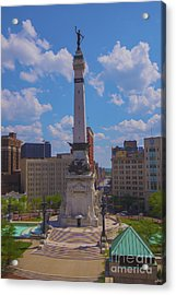 Monument Circle Indianapolis Soldiers And Sailors Monument Acrylic Print by David Haskett