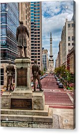 Monument To Monument Indianapolis Acrylic Print