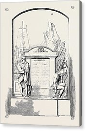 Monument To Sir John Franklin And His Companions Acrylic Print by English School
