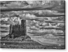Acrylic Print featuring the photograph Monument Valley 6 Bw by Ron White