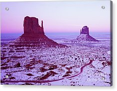 Monument Valley At New Year's Day Acrylic Print