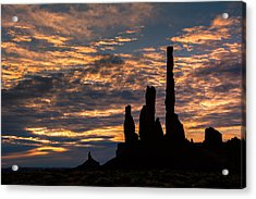 Monument Valley At Sunrise Acrylic Print