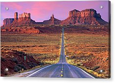 Monument Valley Acrylic Print by Darryl Wilkinson