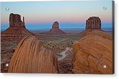 Monument Valley Evening Acrylic Print by Darlene Bushue