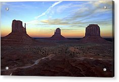 Monument Valley Just After Sunset Acrylic Print by Mike McGlothlen